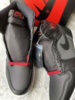 Nike Air Jordan 1 Retro High OG Black Satin Gym Red Men's Size 10.5 555088-060