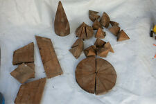 Lot of assorted Hat Mold Wood Parts (S6R) Millinery Block Form