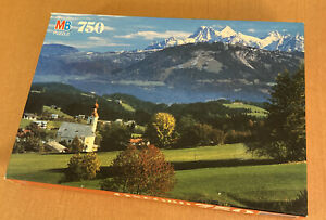 MB Puzzle Oxford ~ Kaiser Mountains, Austria  750 Pieces from 1992