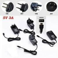 NEW 5V 3A Micro USB AC Adapter DC Wall Power Supply Charger AU/US/EU/UK Plug ~