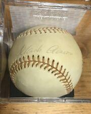 Hank Aaron Single Signed Feeney Baseball Autographed PSA/DNA #AF10570