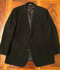 Brooks Brothers Made in USA 100% Camelhair Black Blazer, size 46 Long