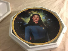 1994 Hamilton Collection Star Trek Preparing Counselor Deanna Troi Plate Coa
