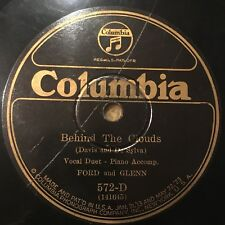"78rpm [1926] WLS Greats Ford & Glenn ""BEHIND THE CLOUDS"" Columbia 572-D"