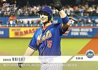 2018 Topps Now Card #800-David Wright~NY Mets Captain(Gets Ovation In Farewell)!