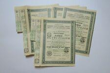 ACIERIES FORGES ET ATELIERS DE MACHINES DE BRIANSK 100 ROUBLES 1907 X 10 ACTIONS