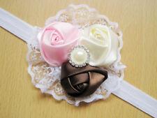 Kids Elastic Floral Rose Lace Headband Hair Girls baby Princess Hairband