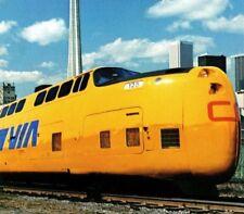 CN Turbo Train #125 VIA Canadian National Railways turbotrain Vintage Postcard