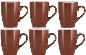 Ritzenhoff & Breker Of Germany Set of 6 Brown & White Coffee Mugs 300ml Capacity