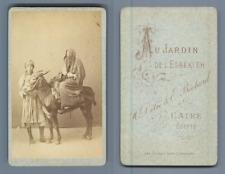 Une famille du Caire. CDV par H. Délie & E. Béchard  CDV vintage albumen.  Tir