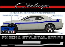 Dodge Challenger 2014 Mopar Style Tail, Body with Deck Stripe #1 Quality Stripes