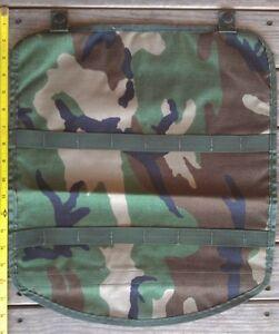 25 ea MOLLE II Pouch Lid Flap Large Ruck FIELD Pack USGI Woodland CAMO MAP