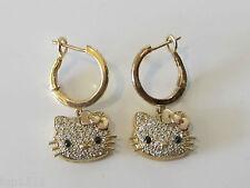 Kimora Lee Simmons Hello Kitty 18k Gold & Diamond Earrings