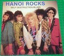 Hanoi Rocks - Self Destruction Blues Finland Johanna 1982 LP Autographed incCOA