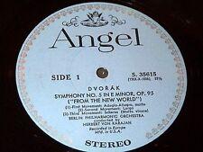 Herbert Von Karajan DVORAK Smetana ANGEL RECORD LP Berlin Philharmonic CLASSICAL