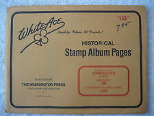 "1993 WHITE ACE STAMP ALBUM SUPPLEMENT "" UB "" USA COMMEMORATIVE BLOCKS"