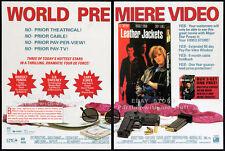 LEATHER JACKETS__Original 1992 Trade AD promo__BRIDGET FONDA__GINGER LYNN ALLEN