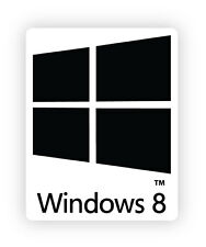 Windows 8 eight W8M PC Finestre di otto adesivo etichetta sticker 2cm x 2.5cm