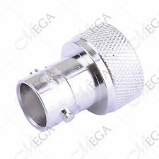 SMA-male to BNC-female silver Aaptor Connector+ Ring for FT-60R KG-UV6D(123678)