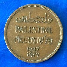 Israel Palestine British Mandate 1 Mil 1927 Coin XF