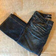 American Eagle Womens Denim Jeans Pre-Owned Size 00 Long 77 Straight