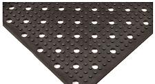 NEW! APEX BLACK RUBBER REVERSIBLE DRAINAGE FLOOR MAT, 8'  x 3', T23S0038BL