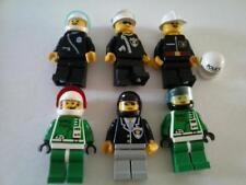 Lego 6 Minifigure & Misc Vintage Lot Space Police Fireman