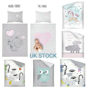 2 PIECES SET Nursery Baby BEDDING SET/PILLOWCASE/DUVET COVER Crib/Cot/Cot Bed