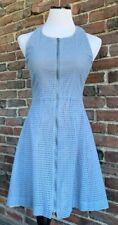 BCBG MaxAzria Gulianna Blue Eyelet Zipper Dress, Size 0