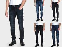 883 Police Mens Regular Regular Fit Designer Engineered Stretch New Mens Jeans