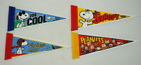 4 Snoopy Peanuts Wincraft Pennants Joe Cool Flying Ace Joe Cool Snoopy 10""