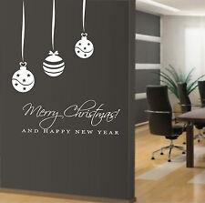 vetrofanie wall sticker adesivo per vetrine ufficio casa negozio palle di Natale