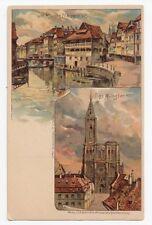 Das MÜNSTER Im Kleinen Frankreich Deutschland 1890-07 Postkarte C.F. Schmidt