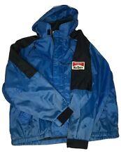 Vtg malboro Unlimited Zip Up Windbreaker Jacket Blue Black Mens XL Light Coat