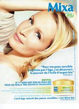 Publicité Advertising 028  2011   Mixa bio  creme  & Estellle Lefebure Hallyday