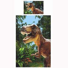 Design Exclusif Jurassique T-Rex Dinosaure Set Housse de Couette Simple Monde
