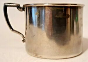 Vintage Estate Silverplate Tudor Plate Oneida Community Child Cup With Handle