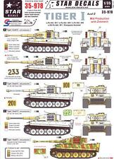 Star Decals 1/35 TIGER I AUSF E TANK Mid Production with Zimmerit