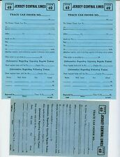 CENTRAL RR OF NEW JERSEY TRAIN ORDERS  (6)  BLANK FORM 49 (TRACK CAR ORDERS).