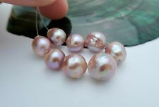 RARE 8pc AA+ FRESHWATER EDISON HIGH GRADE CULTURED PEARLS - RICH COLORS