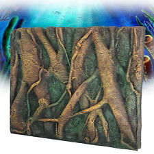 3D PU Tree Root Reptile Aquarium Fish Tank Background Board Plate Decor 60x45cm