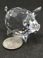 Swarovski Crystal Pig with wire tail NO BOX Excellent Condition Collectible