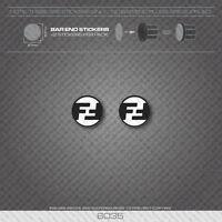 6035 - Focus Bicycle Handlebar Bar End Plug Stickers - Decals