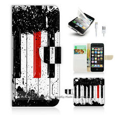 ( For iPhone 5 / 5S / SE ) Wallet Case Cover! Piano Keyboard P0297