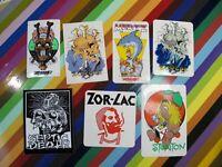 vtg 1980s era Pushead skateboard sticker - Zorlac and Septic Death