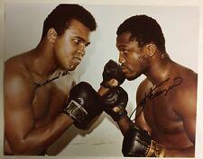 Muhammad Ali & Joe Frazier Heavyweight Champs Boxing Autographed 8x10 Photo R&R