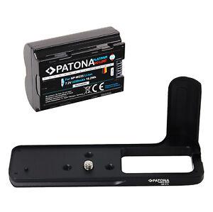 Kamera Handgriff für Fuji-Film X-T4 + Ersatz Akku NP-W235 | PATONA 2250mAh 7,2V