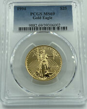1994 PCGS MS69 $25 Gold Eagle Lustrous Coin