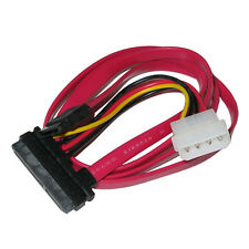 "18"" Inch SATA II SAS 22 (7+15pin) Female to SATA 7-pin Data Cable w/ Molex Power"