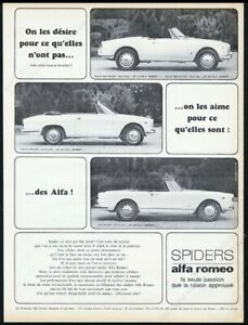 1965 Alfa Romeo Giulia 1600 GTC 2600 Spider 3 car photo vintage print ad